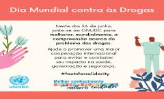 Dia Mundial contra as Drogas Ano 2020