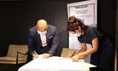 Assinatura de Acordo de Nível de Serviço entre a CCAD & a Casa do Cidadão.